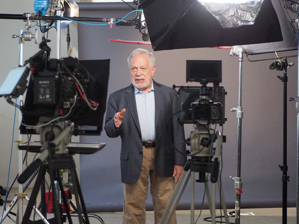 Robert Reich on Set