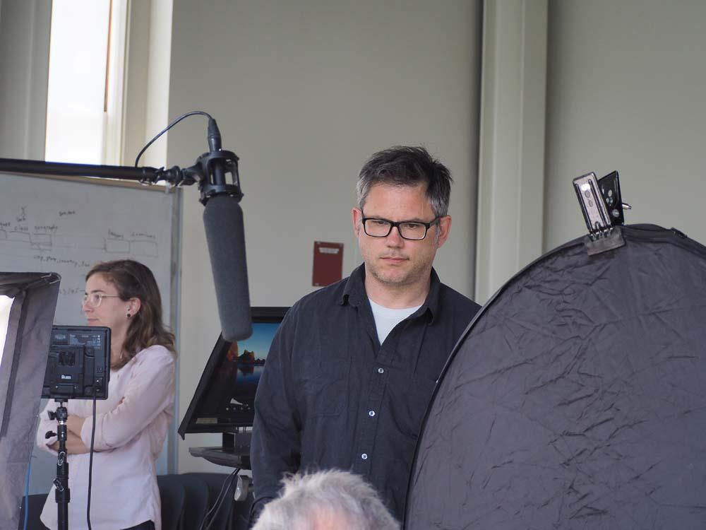 Jacob Kornbluth on set