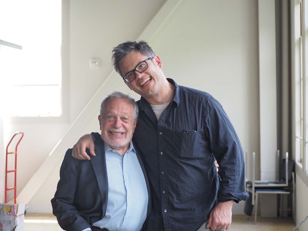 Jacob Kornbluth on set with Robert Reich